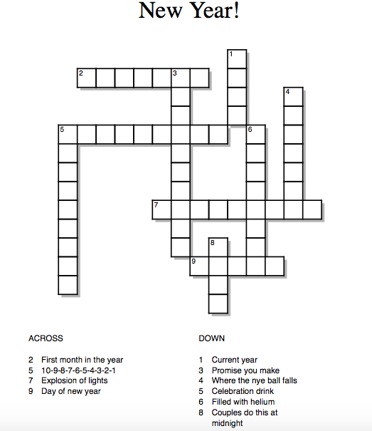 New+Year+Crossword
